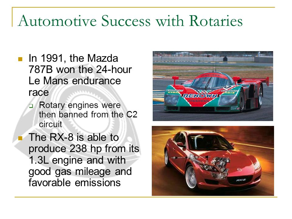 Automotive Success with Rotaries