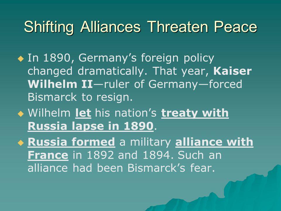 Shifting Alliances Threaten Peace