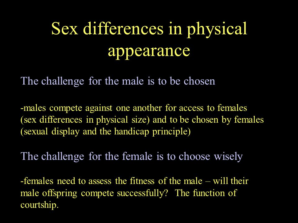 Sex differences in physical appearance