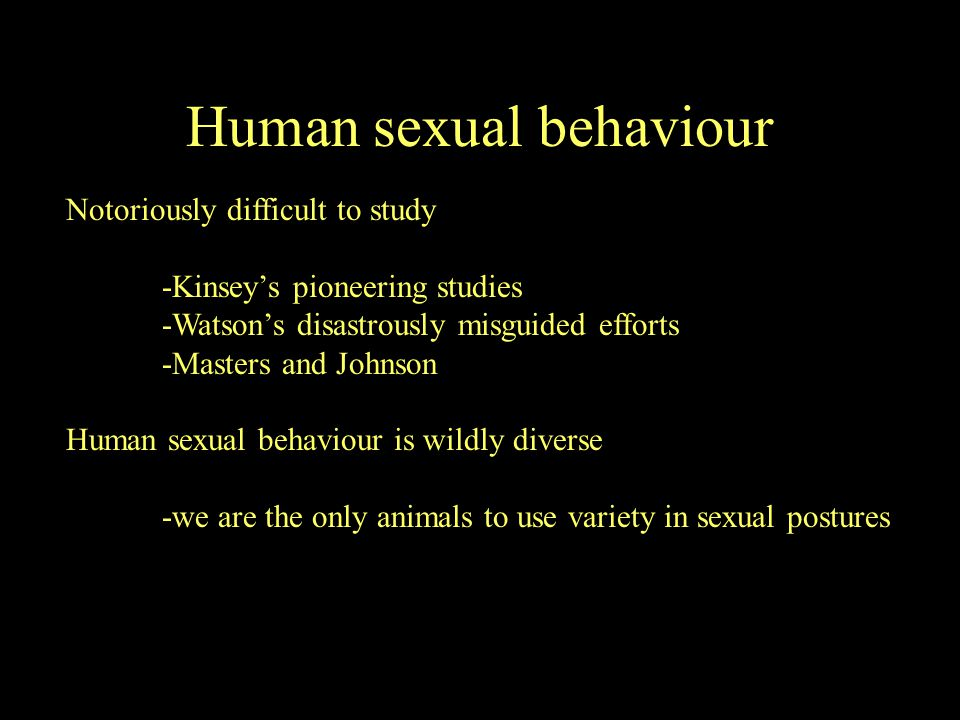 Human sexual behaviour