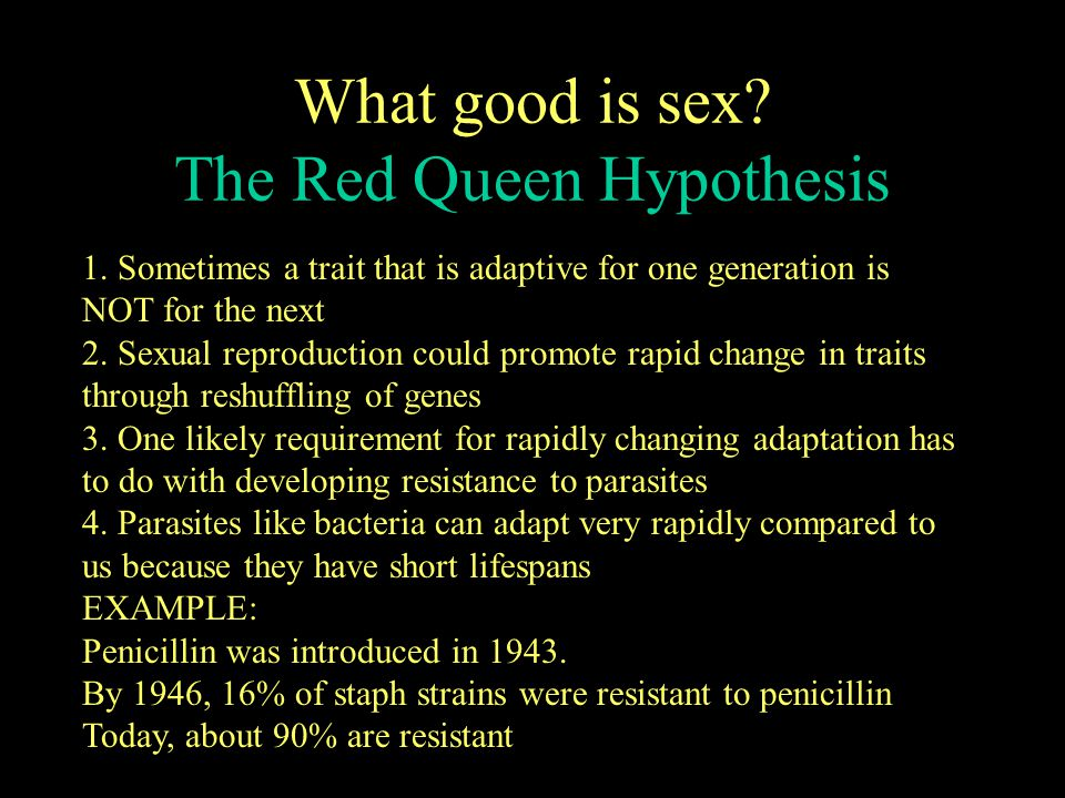 What good is sex The Red Queen Hypothesis