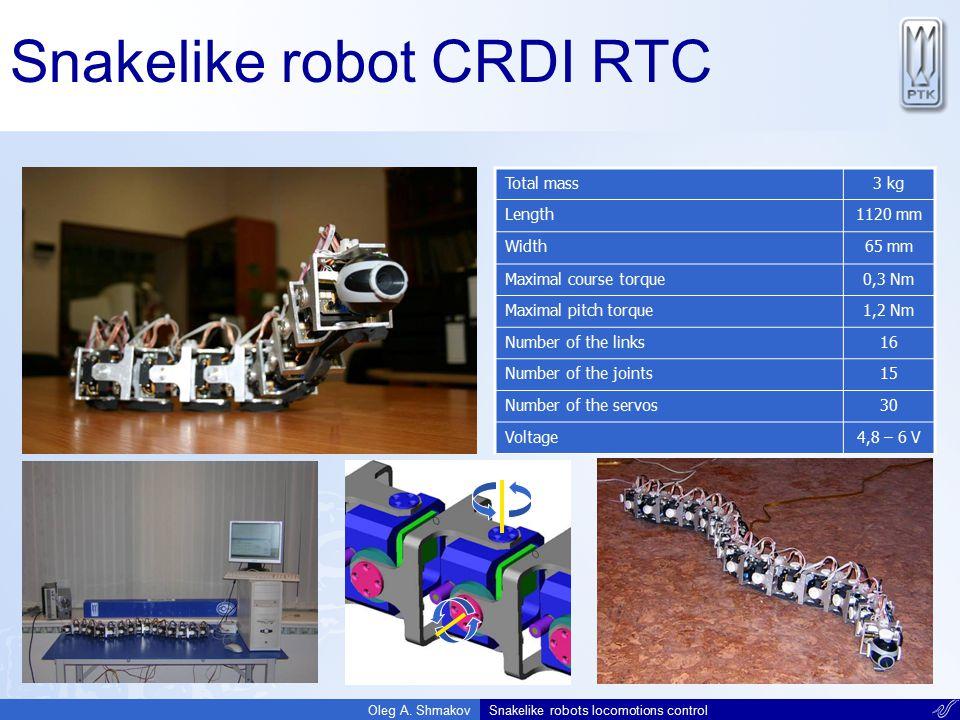 Snakelike robot CRDI RTC