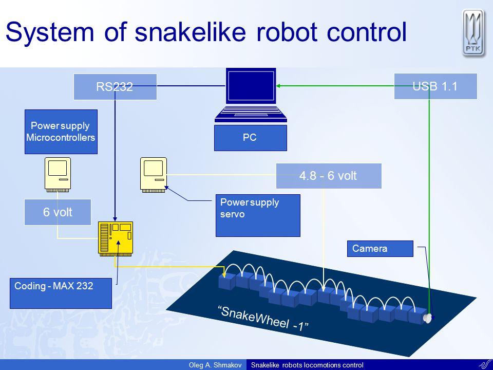 System of snakelike robot control
