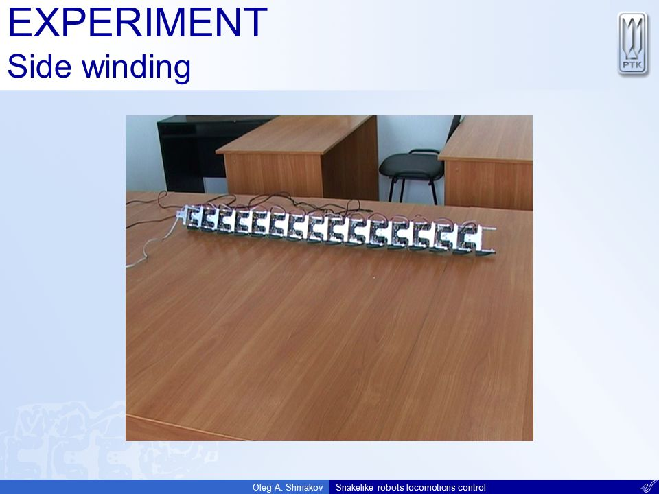 EXPERIMENT Side winding