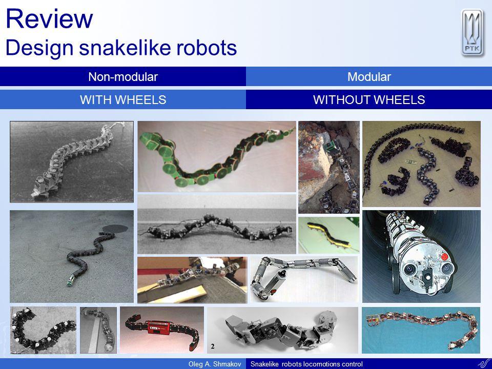 Review Design snakelike robots