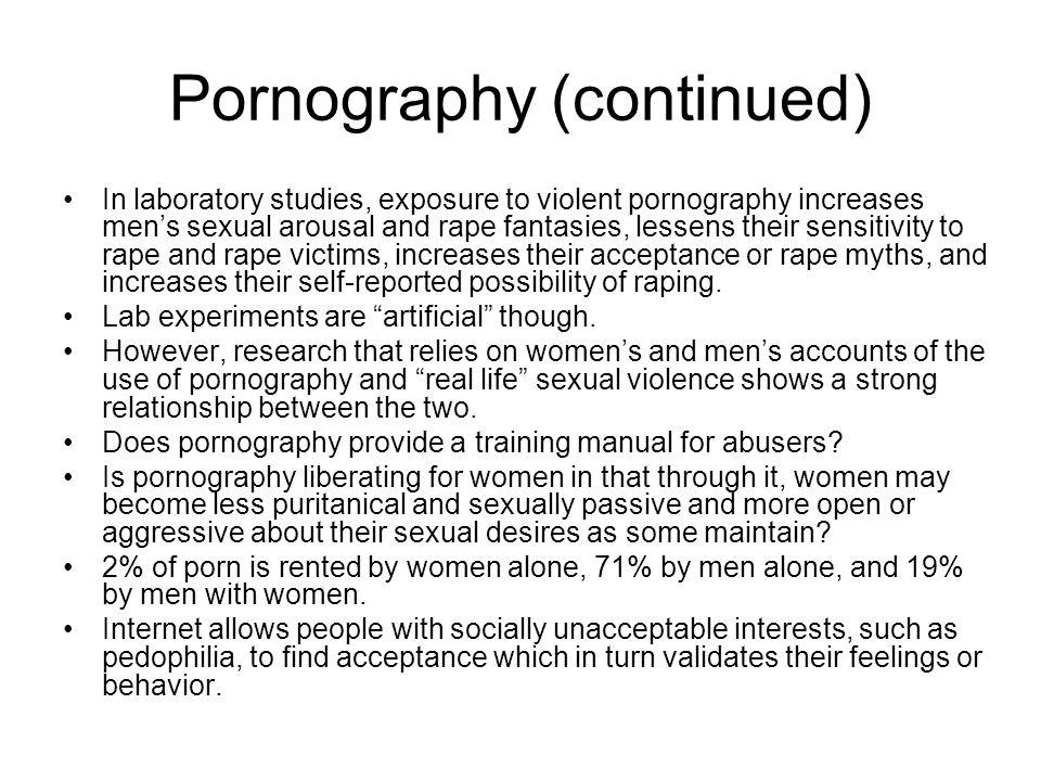 Pornography (continued)
