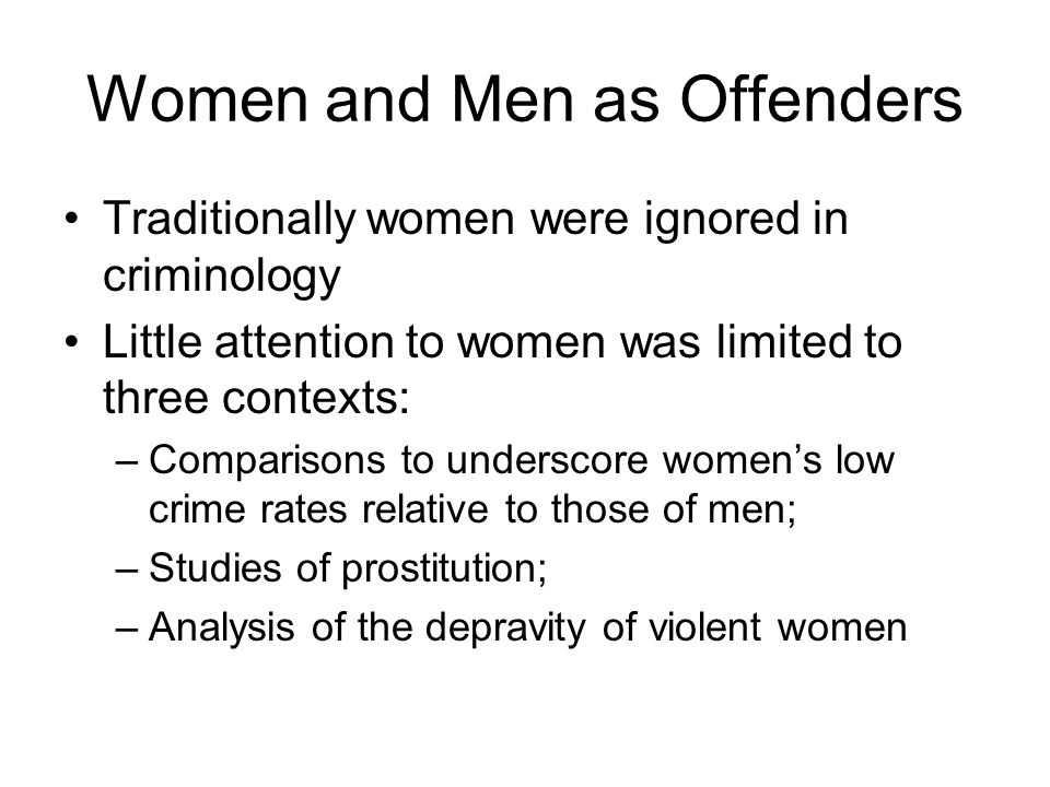Women and Men as Offenders