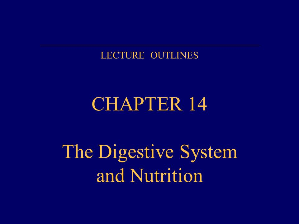 CHAPTER 14 The Digestive System and Nutrition - ppt video online ...