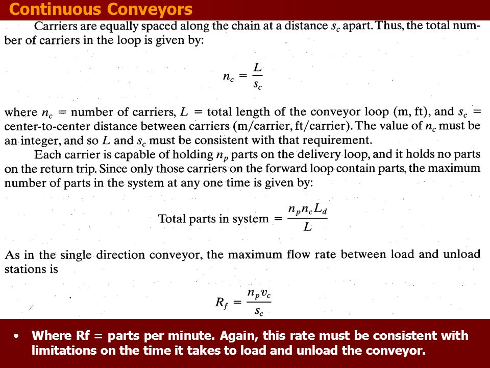 Continuous Conveyors