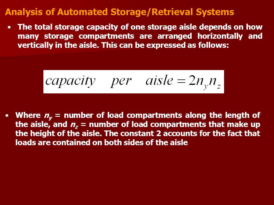 Analysis of Automated Storage/Retrieval Systems