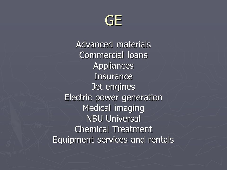 GE Advanced materials Commercial loans Appliances Insurance