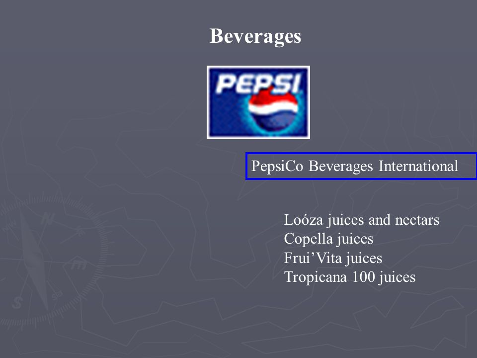 Beverages PepsiCo Beverages International Loóza juices and nectars