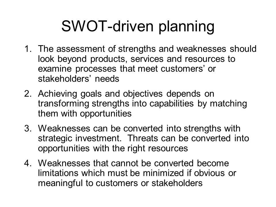 SWOT-driven planning