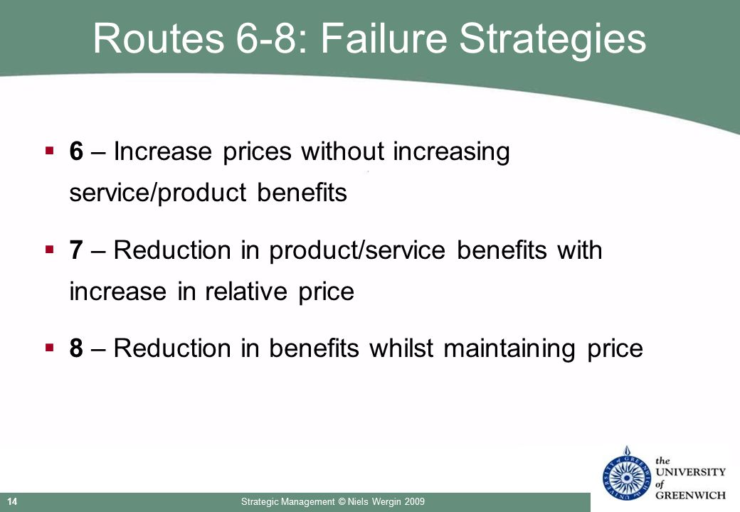 Routes 6-8: Failure Strategies