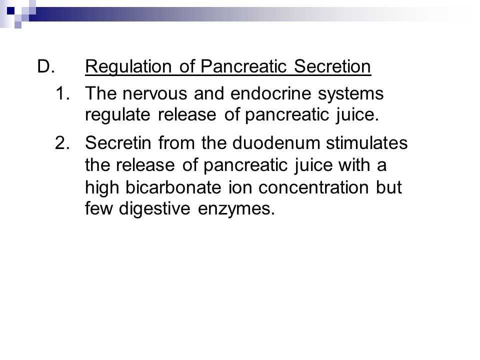 D. Regulation of Pancreatic Secretion