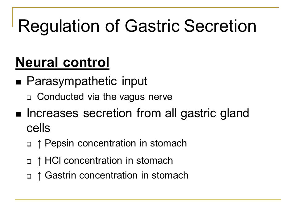 Regulation of Gastric Secretion