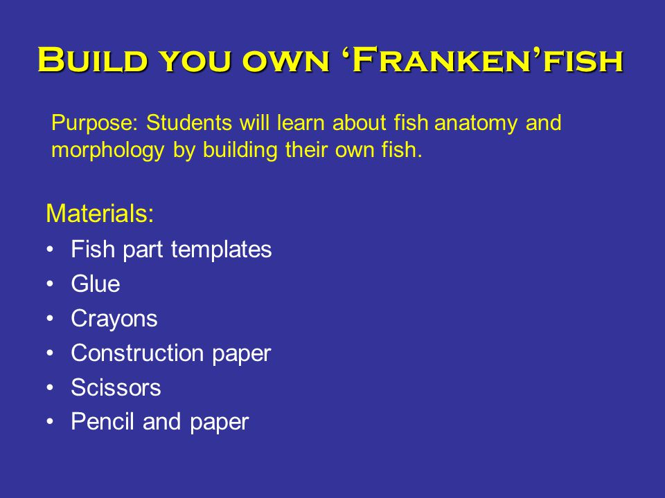 Build you own 'Franken'fish