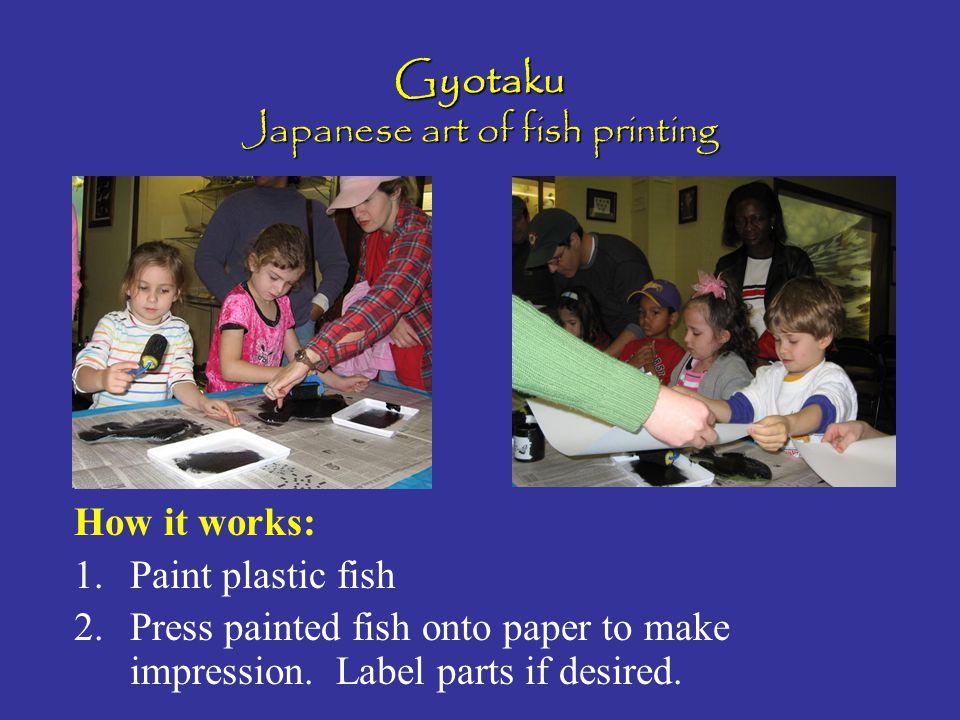 Gyotaku Japanese art of fish printing