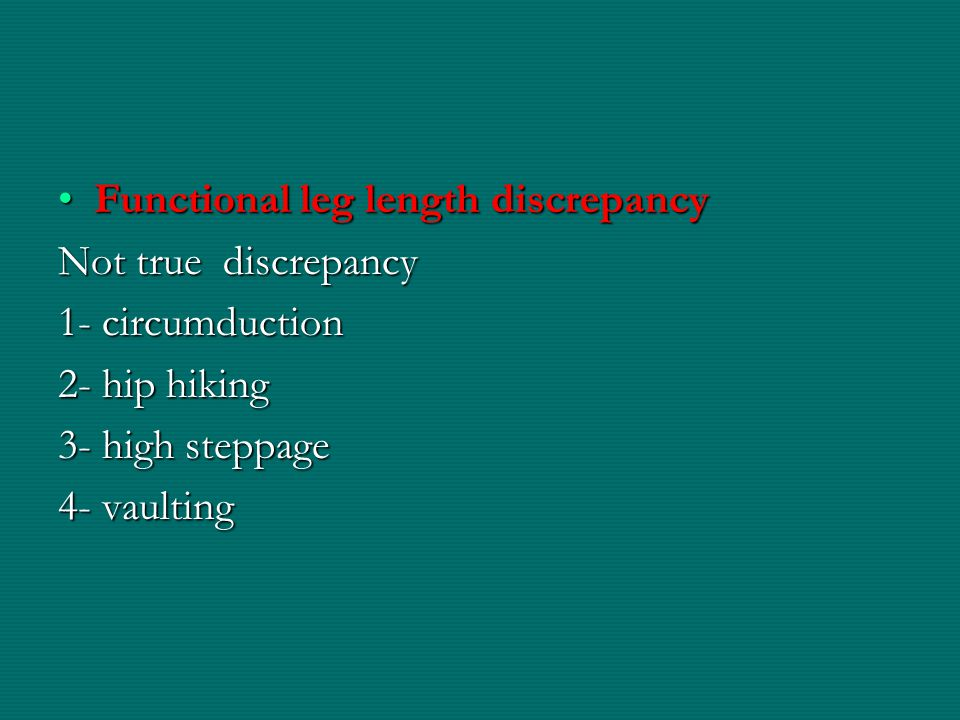 Functional leg length discrepancy