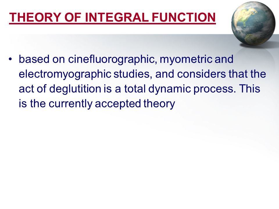 THEORY OF INTEGRAL FUNCTION