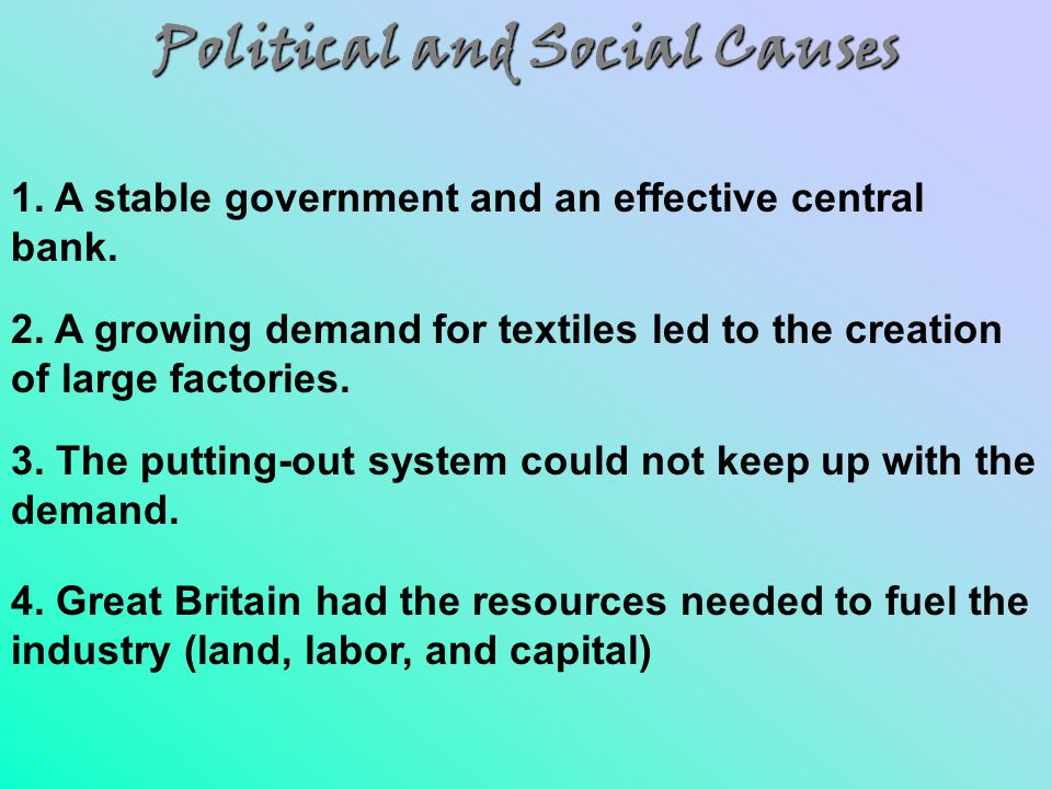 Political and Social Causes