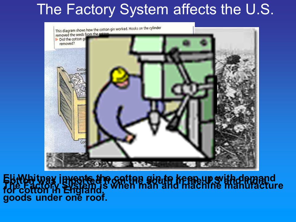 The Factory System affects the U.S.