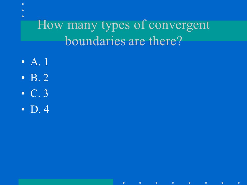 How many types of convergent boundaries are there