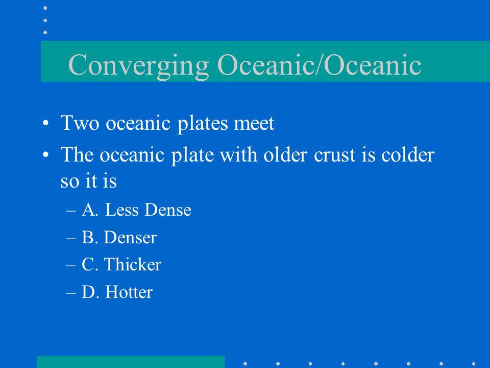 Converging Oceanic/Oceanic