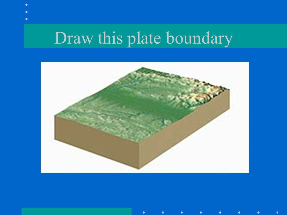 Draw this plate boundary