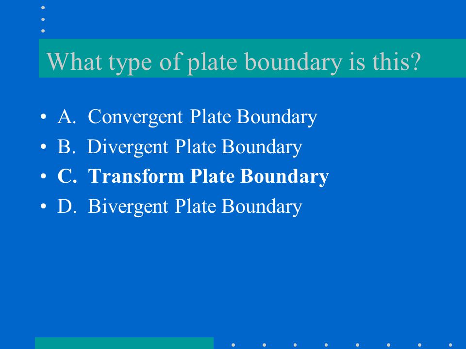 What type of plate boundary is this
