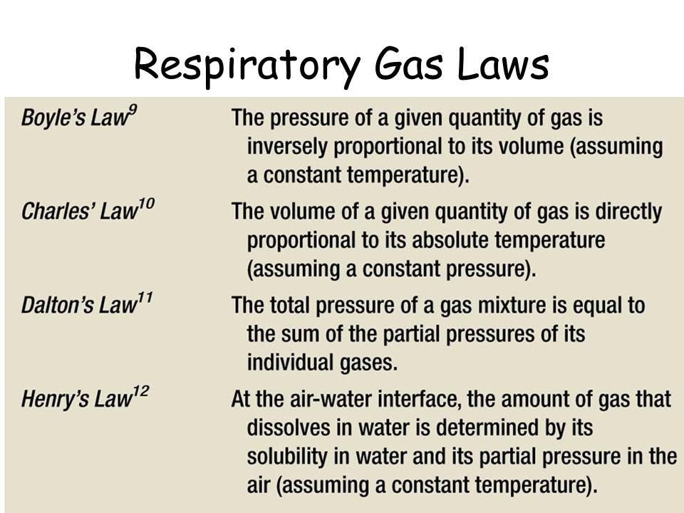 Respiratory Gas Laws