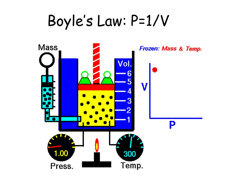 Boyle's Law: P=1/V