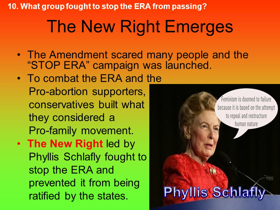 The New Right Emerges Phyllis Schlafly