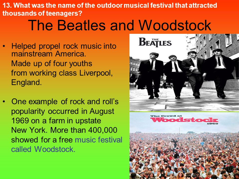 The Beatles and Woodstock