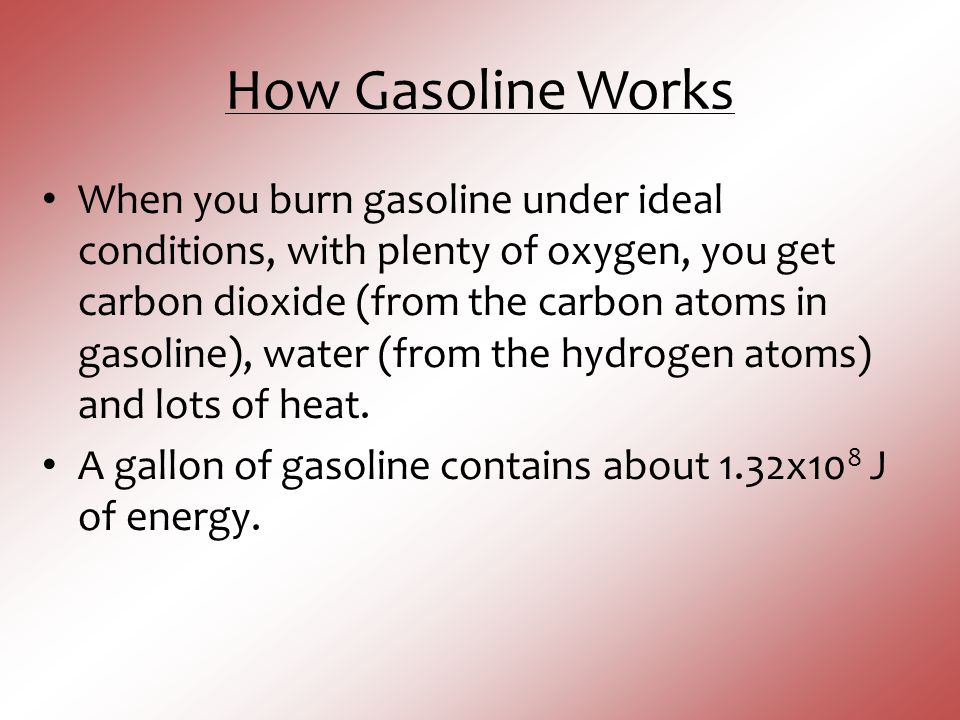 How Gasoline Works