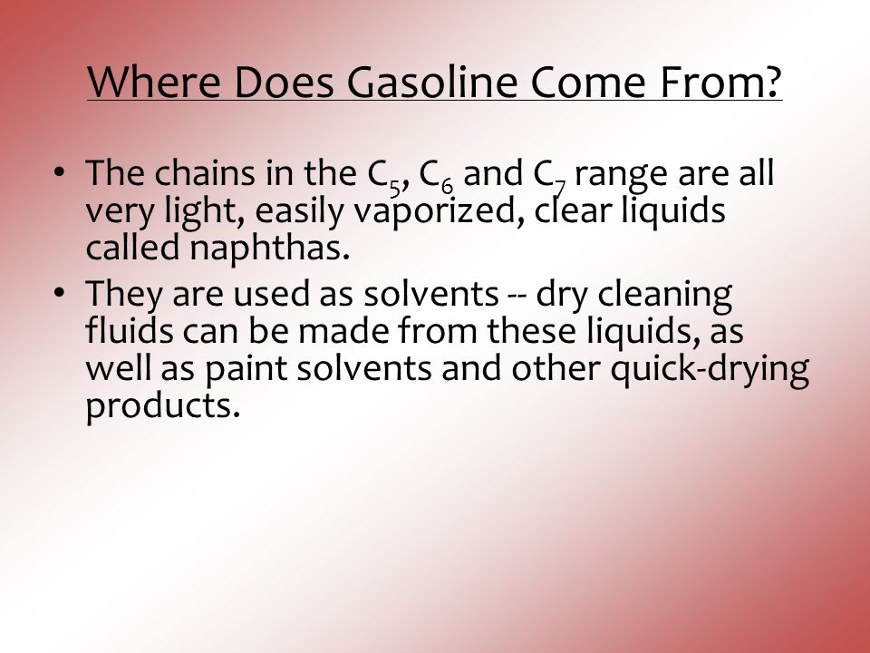 Where Does Gasoline Come From