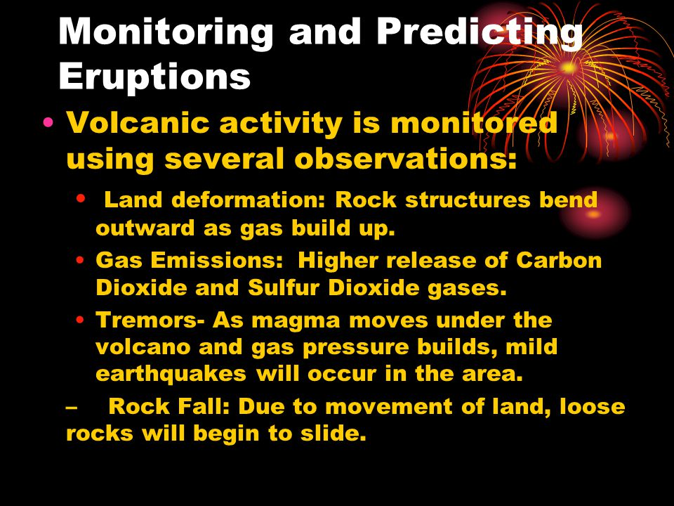 Monitoring and Predicting Eruptions