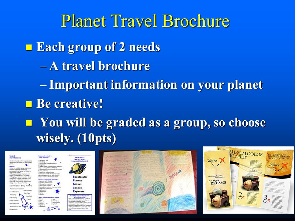 Planet Travel Brochure