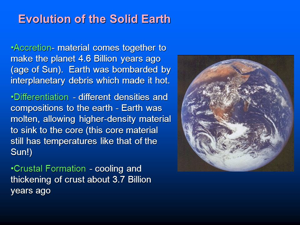 Evolution of the Solid Earth