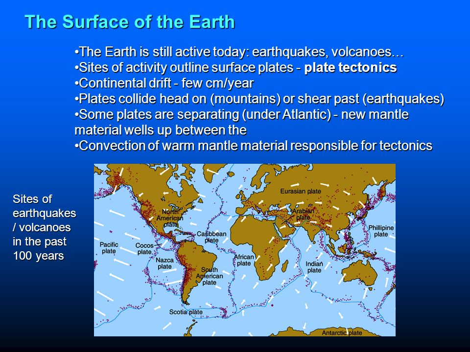 The Surface of the Earth