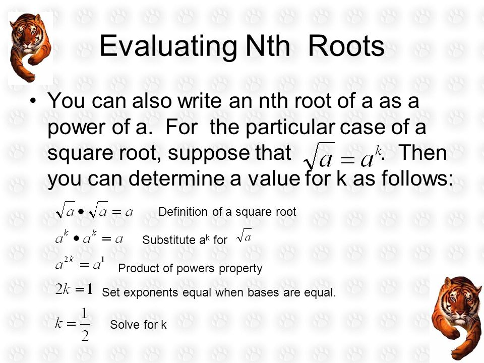Evaluating Nth Roots