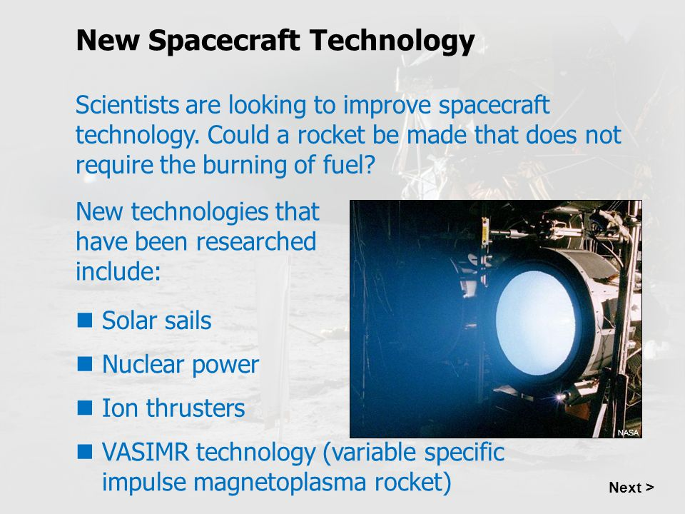 New Spacecraft Technology