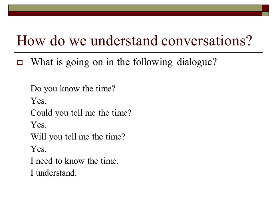 How do we understand conversations