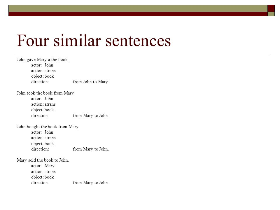 Four similar sentences