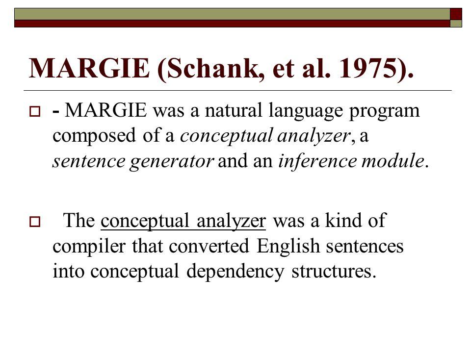 MARGIE (Schank, et al. 1975).