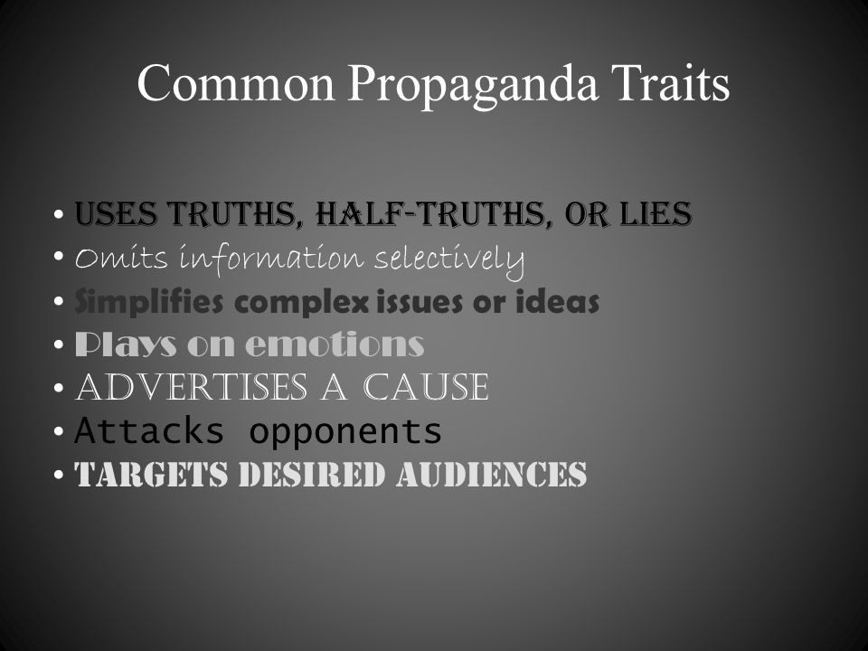 Common Propaganda Traits