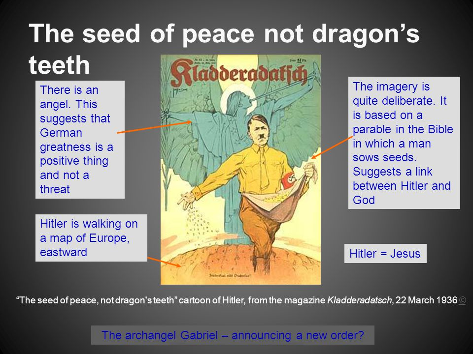 The seed of peace not dragon's teeth