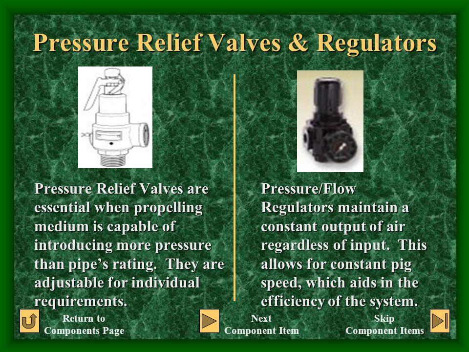 Pressure Relief Valves & Regulators