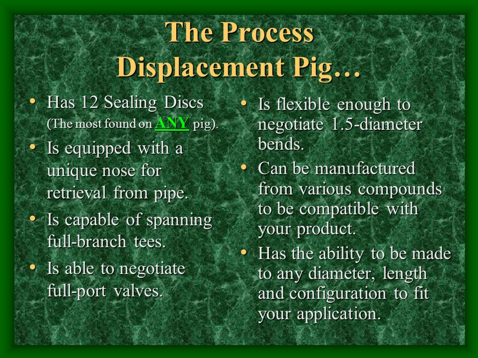 The Process Displacement Pig…