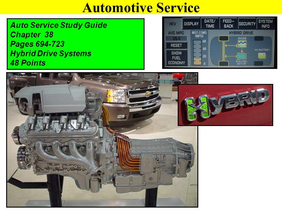 Automotive Service Auto Service Study Guide Chapter 38 Pages 694-723